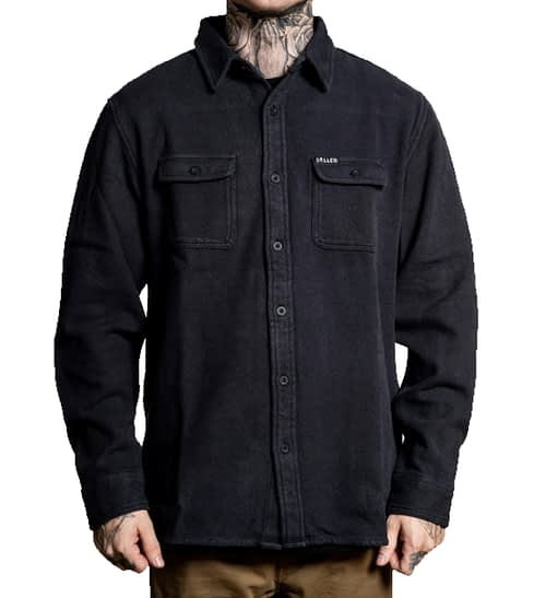 SCM2471 – Phantom Flannel Jacket – Black – 1