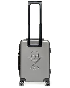valise cabine Blaq PAq Rhino grise vue dos dépliée
