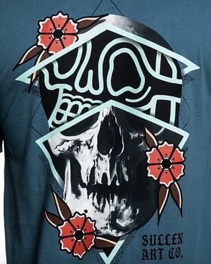 Tee Shirt Rigoni Skull Bleu Zoom sur le design dos
