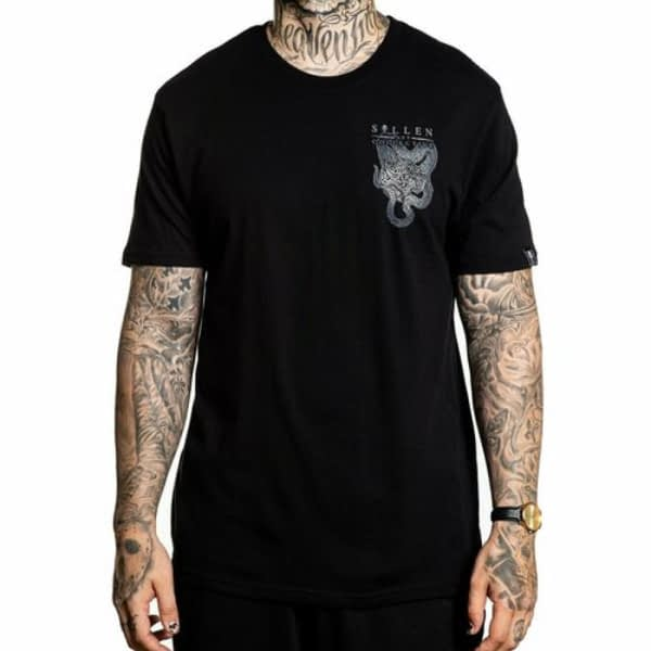 Tee Shirt Sullen Clothing Robert Atkinson Noir vue de face