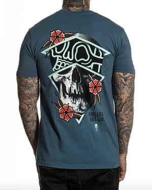 Tee Shirt Premium Rigoni Skull Bleu vue de dos