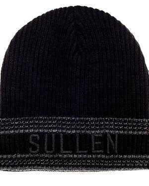 Bonnet Noir Sullen New Era vue de face